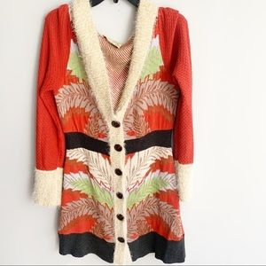 LiaMolly Anthropologie New Orleans Hooded Cardigan